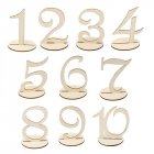 Wedding Party Supplies 1 to 10 Wooden Table Numbers with Round Holder Base for Home Decoration Catering Reception