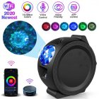 WiFi LED Night Light Projector Starry Projection Ocean Wave 6 Colors 360Degree Rotating Night Lamp black_With WiFi
