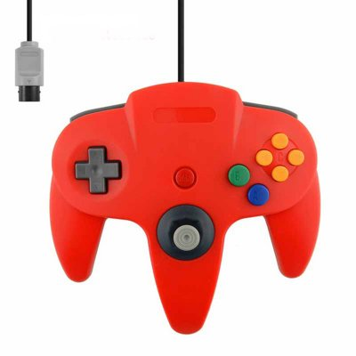 Wired Controller for N64 Classic Gamepad Joypad Red