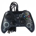 Wired Gaming Controller PC Interface Dual Vibration gray