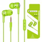 Wired Headset Earphone with Microphone Hands Free for Tablet PC Phone green