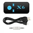Wireless Bluetooth 4.2 3.5mm AUX Audio Stereo Music Home Car Receiver Adapter black