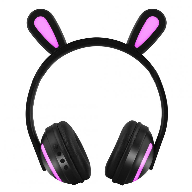 Wireless Bluetooth Headphones Head-mounted Stereo Bass Wireless Bluetooth Headset Rabbit Ears