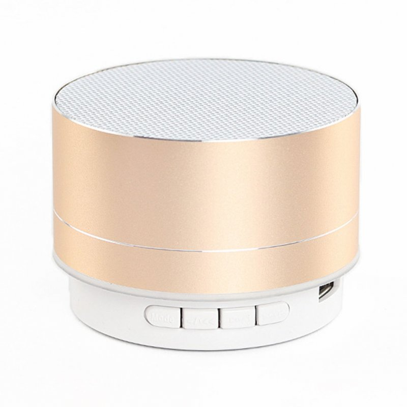 Wireless Bluetooth Speaker Metal Mini Portable Sound with Mic TF card FM radio AUX MP3 Music Play Loudspeaker Gold