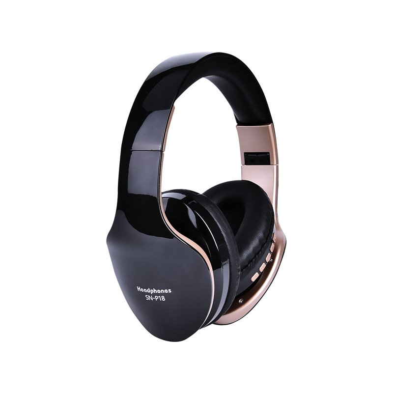 Wireless Headphones Bluetooth Headset Foldable Stereo Headphone Gaming Earphones Support TF Card with Mic for PC All Phone Mp3 black