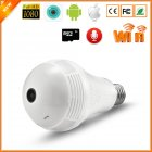 Wireless IP Camera Bulb Light 360 Degree 3D VR Mini Panoramic Home CCTV Security Bulb Camera IP 2 million pixels with 64G card