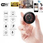 Wireless Mini WiFi IP Camera HD 1080P Smart Home Security Camera Night Vision Video Camcorders for iPhone Android Phone iPad PC Infrared version (EU plug)