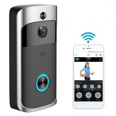 Wireless WiFi DoorBell - Black