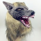 Wolf Head Hair Mask for Halloween Scary Costume Party Cosplay Prop As shown