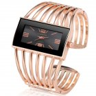 Women Creative Waterproof Alloy Quartz Rectangular Dial Fashion Bracelet Watch Wristwatch 2#