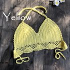 Women Delicate Knit Bikini Tops All-matching Bra yellow_M