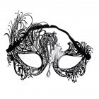 Women Elegant Chic Metal Mask for Halloween Cospaly Party Fancy Dress