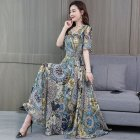 Women Mandarin Sleeve Waisted Dress