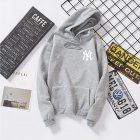 Women Men Loose Long Sleeve Casual Sports Fleece Sweatshirts Coat gray_M
