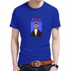 Women Men T Shirt Fashion Loose Short Sleeve Tops for Couple Lovers Blue male_L