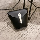 Women Satchel Rivet Bucket Bag PU Leather Single Strap Cross-body Fashion Bag black
