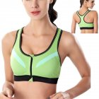 Sports Bra Wire Free Underwear  Green S