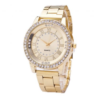 Unique Fashion Dial Wristwatch Gold