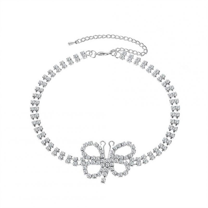 Women's Necklace Alloy Full Diamond-mounted Short Choker Necklace