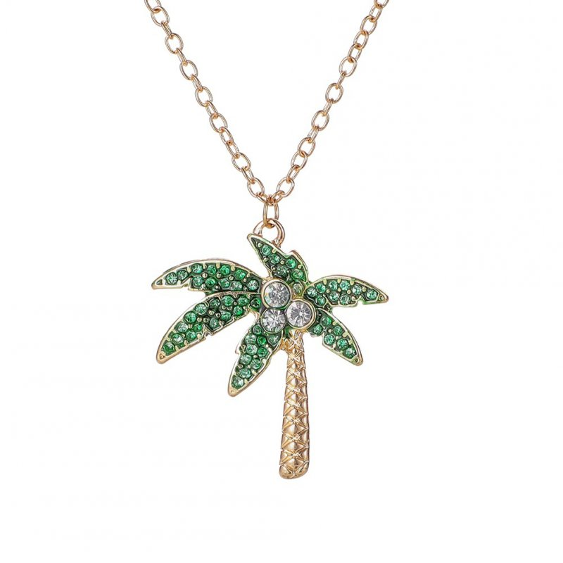 Women's Necklace Tropical Animal and Plant Pendant Flamingo Coconut Tree Shape Necklace Coconut tree