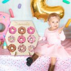 Wooden Doughnut Display Stand for Wedding Birthday Party Baby Shower Decor Craft JM01612