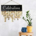 Wooden Family Celebrating Birthday Reminder Message Hanging Board Home Decoration Supplies JM00887