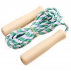 Wooden Handle Skipping Rope Adjustable Skip Rope Competition Fitness Sports Equipment Random Color