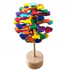 Wooden  Magic Wand Stress Relief Toy Rotating Lollipop Creative Art Rainbow color