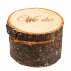 Wooden Ring Box Country Style Wedding Ring Box WE DO Pattern Rustic Ring Box for Wedding Ceremony