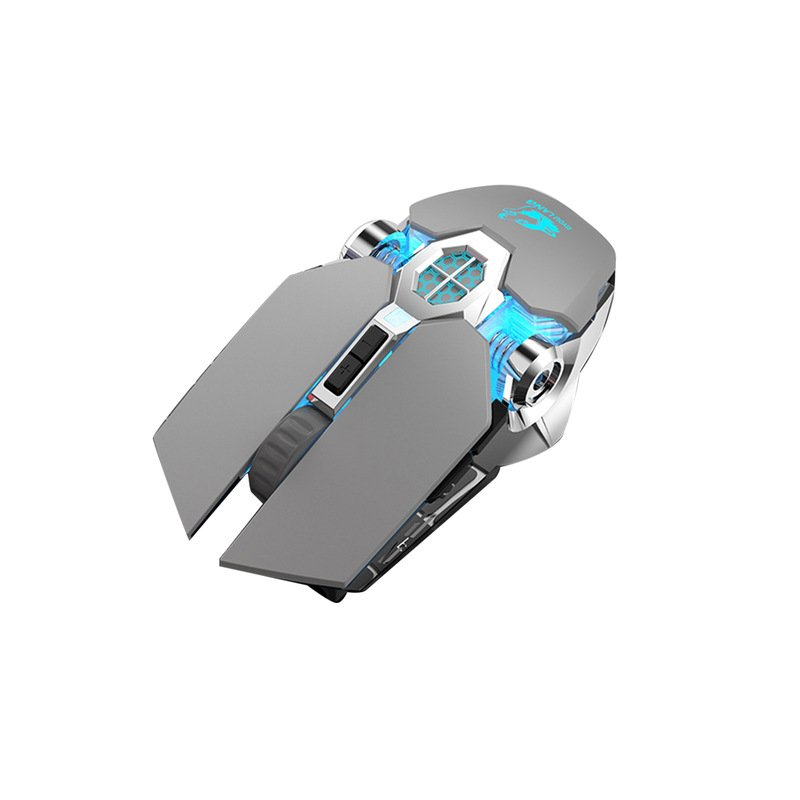 X13 Wireless Gaming Mouse 2.4G Bluetooth 5.0 2400DPI USB Rechargeable Mouse for Windows Computer PC gray