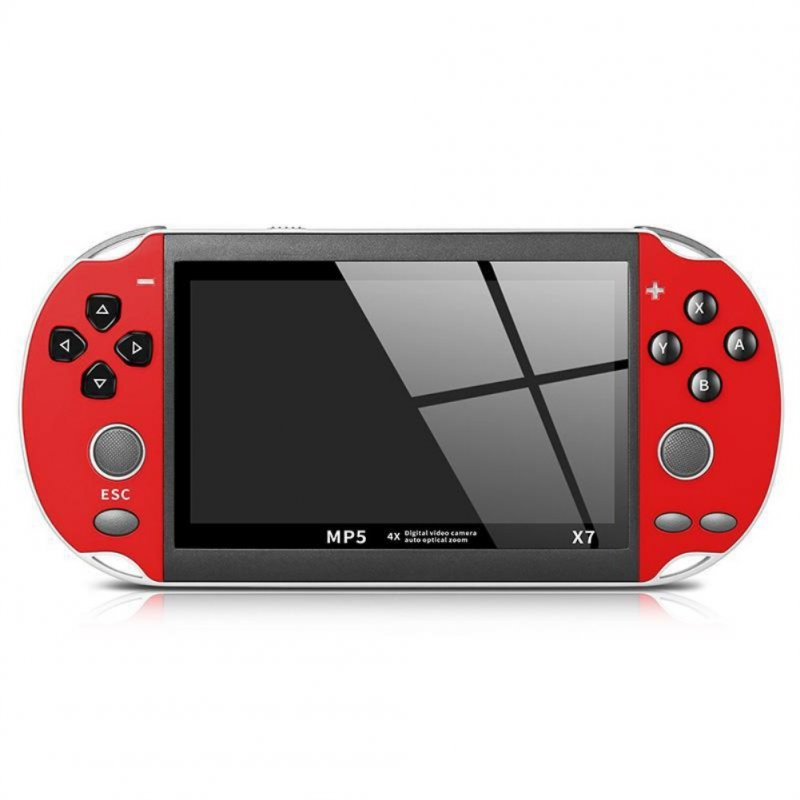 X7 Handheld Game Console for PSP Double Rocker Game Machine 4.3 Inch red