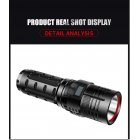 XHP 70 LED Flashlight USB Rechargeable Torch 3 Modes Adjustable Handheld Light black_Model W77-P70