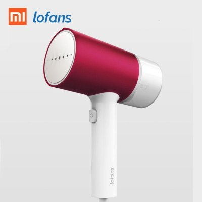 Xiaomi Mijia Lofans Handheld Steam Iron Household Portable Clothing Ironing Machine Steamer  White + red