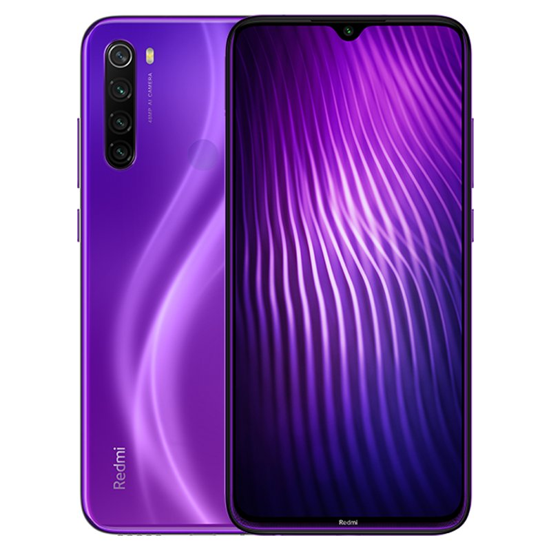 Original Xiaomi Redmi Note8 purple Global Version Smart Mobile Phone Quick Charging 48MP Camera 6.3 4000mAh Smartphone purple_4+64