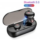 Y30 Tws Wireless Blutooth  5.0 Earphone Noise  Cancelling Headset 3d  Stereo Sound Music In-ear Earbuds black
