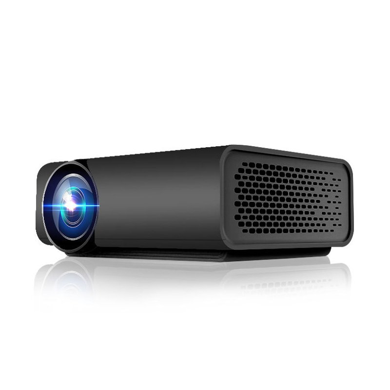 YG520 Mini LED Projector 1080P HDMI USB AV SD Snyc Display with Smartphone Home Theater  black_EU Plug