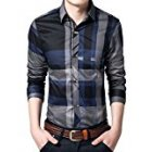 YoungHorse Men Button-down Long Sleeve Shirt