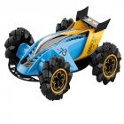 Z109S 2 4G 4WD RC Stunt Car Watch Gesture Sensor Control Spray Toys for Kid Gift with LED Light blue
