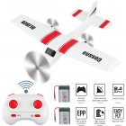 Z53 Medium Foam Glider 2 Battery Remote Control Toy 2.4ghz Epp Rc Airplane Rc Aircraft Glider white
