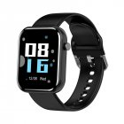 ZL11 Smart Bracelet 1.5 Inch Full Touch Screen Step Counts Heart Rate Long Standby Bluetooth Wristwatch black