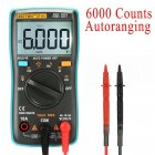 ZOTEK Digital Multimeter Portable 6000 Counts Auto Ranging Multi Tester OHM Hz Temp Duty Cycle AC DC Measuring Tester With Backlight LCD Display