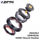 ZTTO CNC ZS44/ZS56 MTB Bike Road Bicycle Headset Tapered Tube fork Internal Threadless Bicycle Bearing Set black