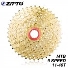 ZTTO MTB 9s 11-40T Cassette GOLD 11-40T Mountain Bike Bicycle Freewheel Golden Wide Ratio Bicycle Parts   9s 11-40t