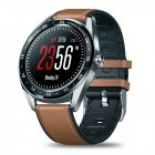 Original Zeblaze NEO Color Touch Smart Watch Heart Rate Blood Pressure Monitor Female Health Waterproof Watch brown