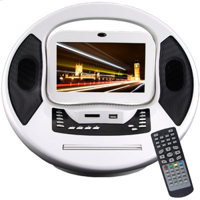 Portable Digital Media Center - DVD CD MP3 MP4 Video Game Player
