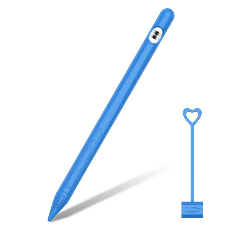 for Apple Pencil 1 Tablet Touch Stylus Pen Protective Cover Portable Soft Silicone Pencil Cap blue