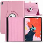 for Apple iPad Pro 11 / 12.9 3rd Gen 2018 360 Rotating Leather Smart Case Cover Pink
