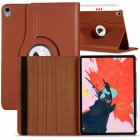 for Apple iPad Pro 11 / 12.9 3rd Gen 2018 360 Rotating Leather Smart Case Cover brown