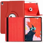for Apple iPad Pro 11 / 12.9 3rd Gen 2018 360 Rotating Leather Smart Case Cover red