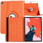 for Apple iPad Pro 11 / 12.9 3rd Gen 2018 360 Rotating Leather Smart Case Cover Orange